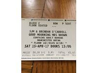 2 Tickets Mrs Brown Boys. 1.00 show Manchester Arena 15 April