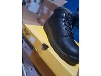 Steel toe cap doc martin boots size 7 and 11 left