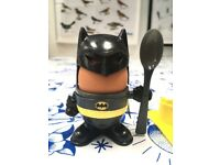 Batman Egg Cup and Toast Cutter Set - Very Good Condition