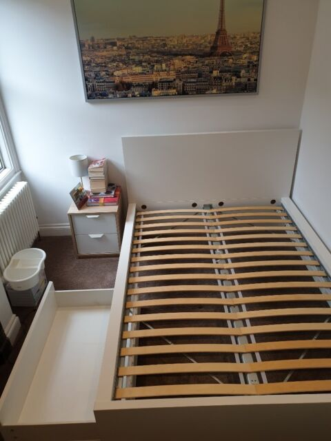 Fabulous Double Bed For Sale Ikea Malm With Storage Box In Willesden London Gumtree Download Free Architecture Designs Ferenbritishbridgeorg