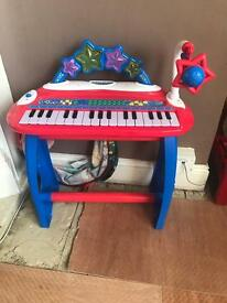 Piano with stool