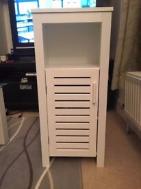 White Bathroom Cabinet with 3 Shelves - £7 (ONO) - Collection in Stockwell