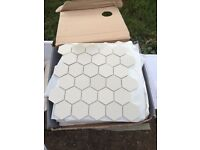 Fired Earth super white hexagon tiles - worth £150