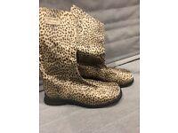 ORIGINAL Roberto Cavalli Leopard Print Boots