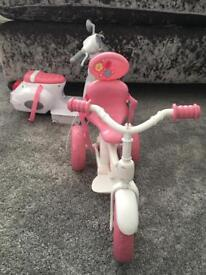 Baby born cycle and motorbike