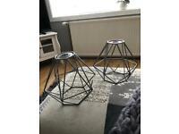 Grey Metal Lampshades £10.00 pair