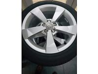 Audi A1 Sport design alloys and tyres - new