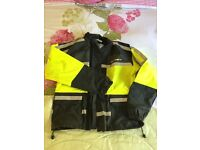 Hi Dry Heine Gericke hi vis thick quality waterproof bikers over jacket