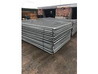 Packs of 50 + 30 banded used round top heras fencing / site security