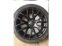 Black 19' alloy wheels VW Transporter with tyres,
