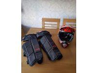 661 Evo Full Face biking helmet and Brand X Leg guards