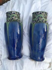 Art Nouveau Doulton vases
