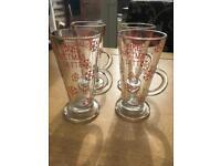 Christmas latte glasses £8 per glass with homemade fudge