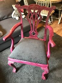 Shabby Chic Chippendale Style Chair