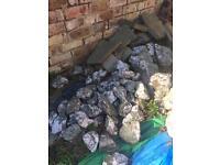 Beautiful Quartz rockery stones various sizes