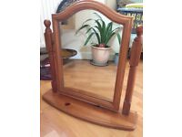 Dressing Mirror in good quality solid pine.