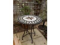 Mosaic garden table.