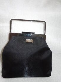 A Genuine Fiorelle By Night Black Satin Look Bag with Detachable Shoulder Strap
