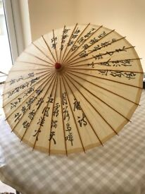 10 Wooden Chinese Parasols