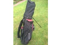 hippo golf standbag with 15 clubs plus callaway carry bag plus taylor made gloves