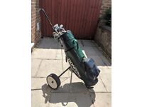 Golf Clubs - Bag - Trolley - 15 Clubs from Putter to Driver