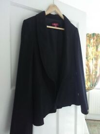 Monsoon Black Dinner Jacket Size 14 uk