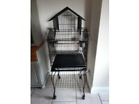 Bird cage - suitable for budgie, small parrot, cockatiel