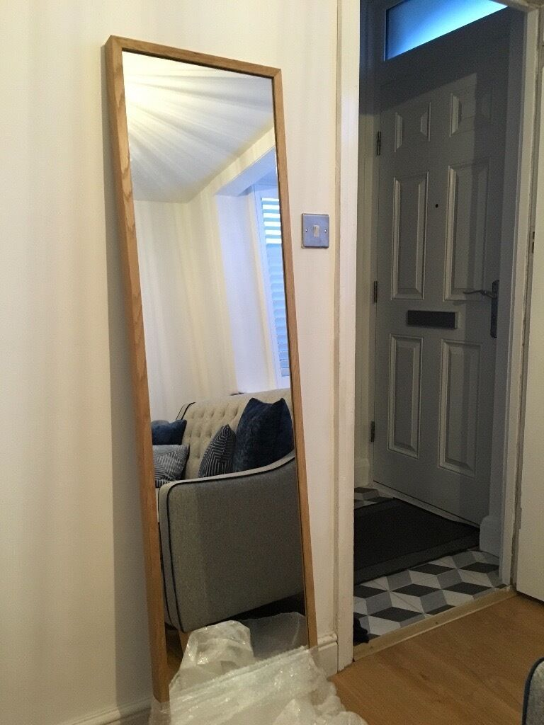 Ikea Stave Oak Full Length Mirror Excellent Condition