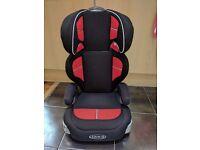 Graco 15-36kg car seat (Inc booster)