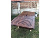 Indian Ocean teak extendable garden table