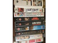 10 VHS tapes various movies