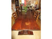 Dining room Table and 6 matching high back chairs - Alexander Theodore Design - Finest Quality