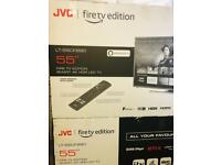 """55"""" jvc smart 4k fire edition work with Alexa built in center stand £359"""