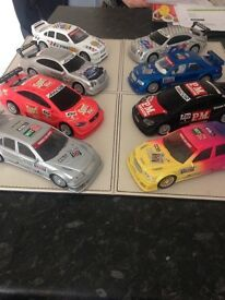 Model toy racing car x 8