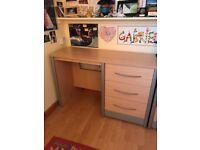 Birch desk with draws
