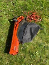 Flymo GardenVac Plus Electric Leaf Vacuum Blower with chord