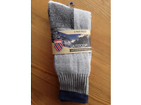 Boot socks, 2 pairs, cotton by K Swiss, size:10-13