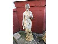 Garden stone lady statues