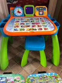 Vtech electronic educational learning table