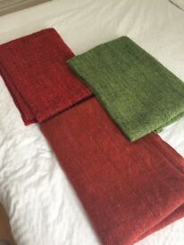 three ikea gurli throws. Nice and clean