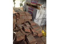 Secondhand clay roof tiles