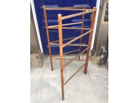 Wooden Towel Rail .....3 sections for hanging items with 4 bars on each section. Size 81in x 48in