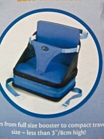 Feeding chair First Years on the go self inflating booster seat travel portable Lightweight Foldaway