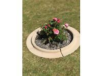 1.1 meter garden planter circle garden feature ornament
