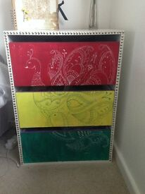 Handpainted Bedside table