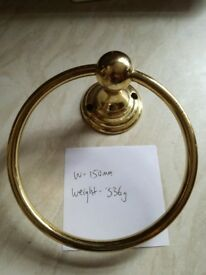 Brass towel ring holder 15cm wide - 336 grams