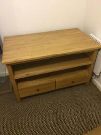 TV cabinet solid oak