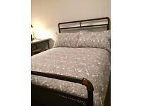 Industrial style scaffold double bed frame