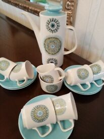 VINTAGE 1960s J&G MEAKIN COFFEE SET - COLLECTIBLE