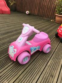 Girls toddler ride on